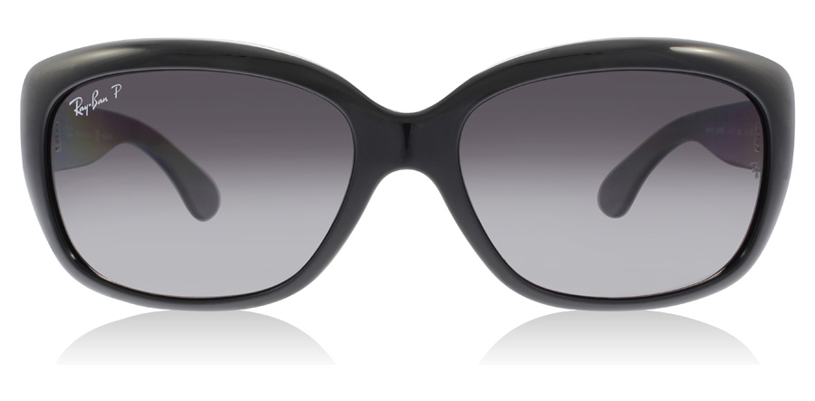 Ray-Ban Jackie Ohh RB4101 Glansig Svart 601/T3 58mm Polariserade