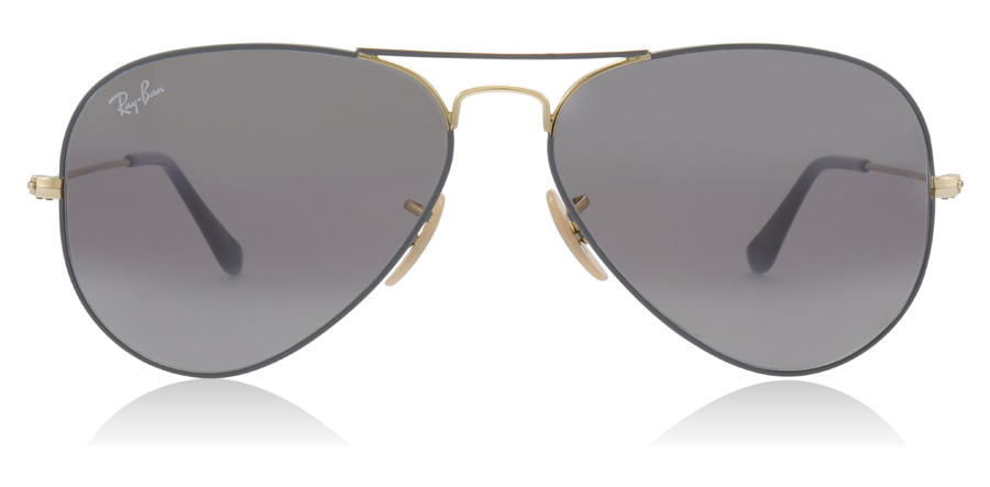 Ray-Ban Aviator RB3025 Gold / Matte Grey 9154AH 58mm