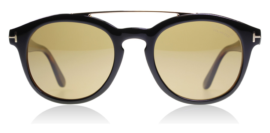 Tom Ford Newman FT0515 Svart / Mörk Havana 05H 53mm Polariserade