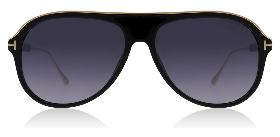 Tom Ford Nicholai FT0624 Skinande Svart 01C 57mm