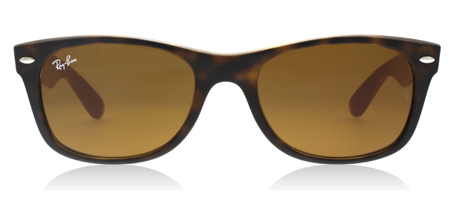 Ray-Ban RB2132 New Wayfarer Matt Sköldpaddsmönster / Grå 6179 52mm
