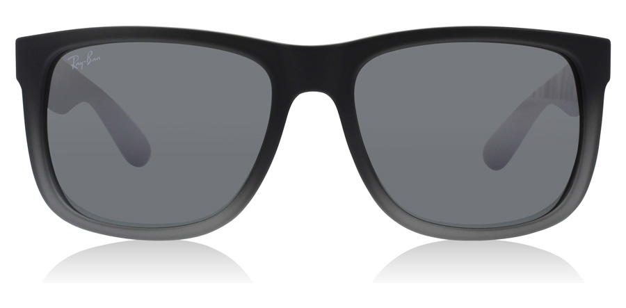 Ray-Ban Justin RB4165 Grå Gummi / Transparent 852/88 51mm