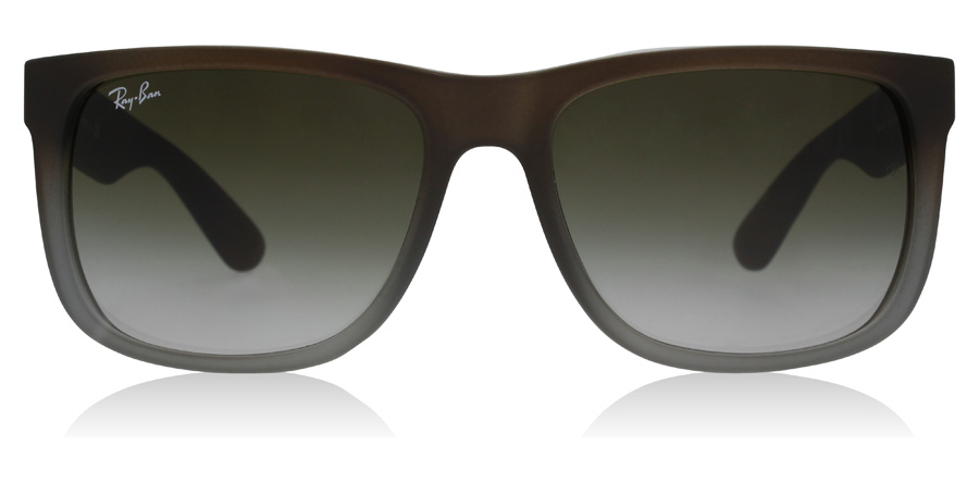 Ray-Ban Justin RB4165 Brunt gummi / Grå 854/7Z 54mm