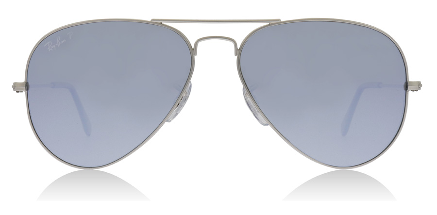 Ray-Ban Aviator RB3025 Silver 019/W3 58mm Polariserade