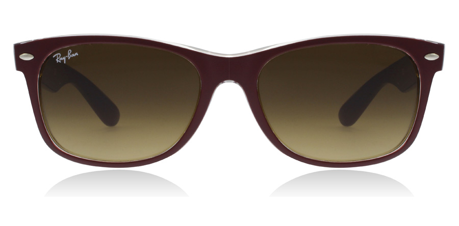 Ray-Ban RB2132 New Wayfarer Vinröd 605485 52mm